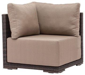Zuo Park Island Outdoor Corner Chair   Contemporary   Outdoor Pillows    Euro Style Lighting
