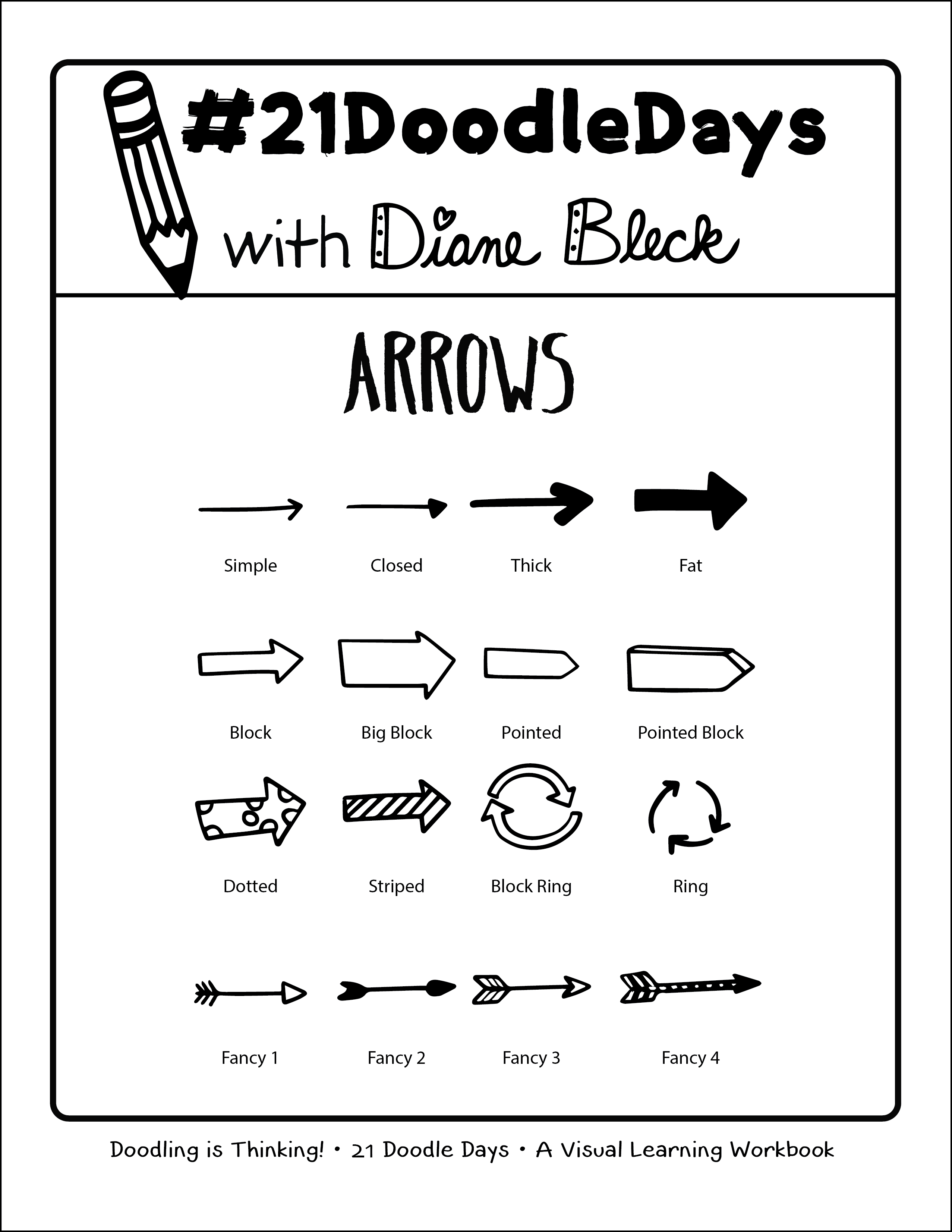 Lesson 08 Arrows 21 Doodle Days Learn How To Art By Draw Wire Diagrams Http Picsboxbiz Key Howtodraw Diane Bleck Of The Institute