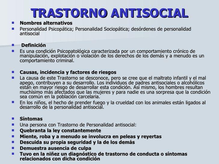 síntomas de comportamiento antisocial de la diabetes