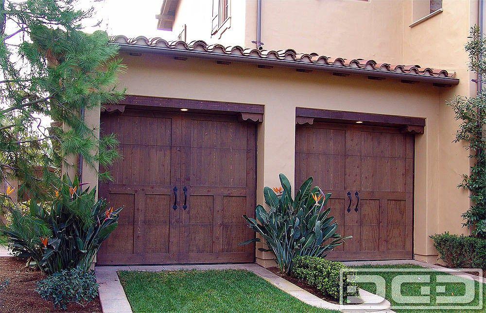 Wood Garage Doors In A Spanish Design Garage Pinterest Garage