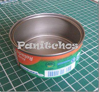 PAP Agulheiro de tecido utilizando latinha de atum - PANITCHOS - Ideias em Tecido