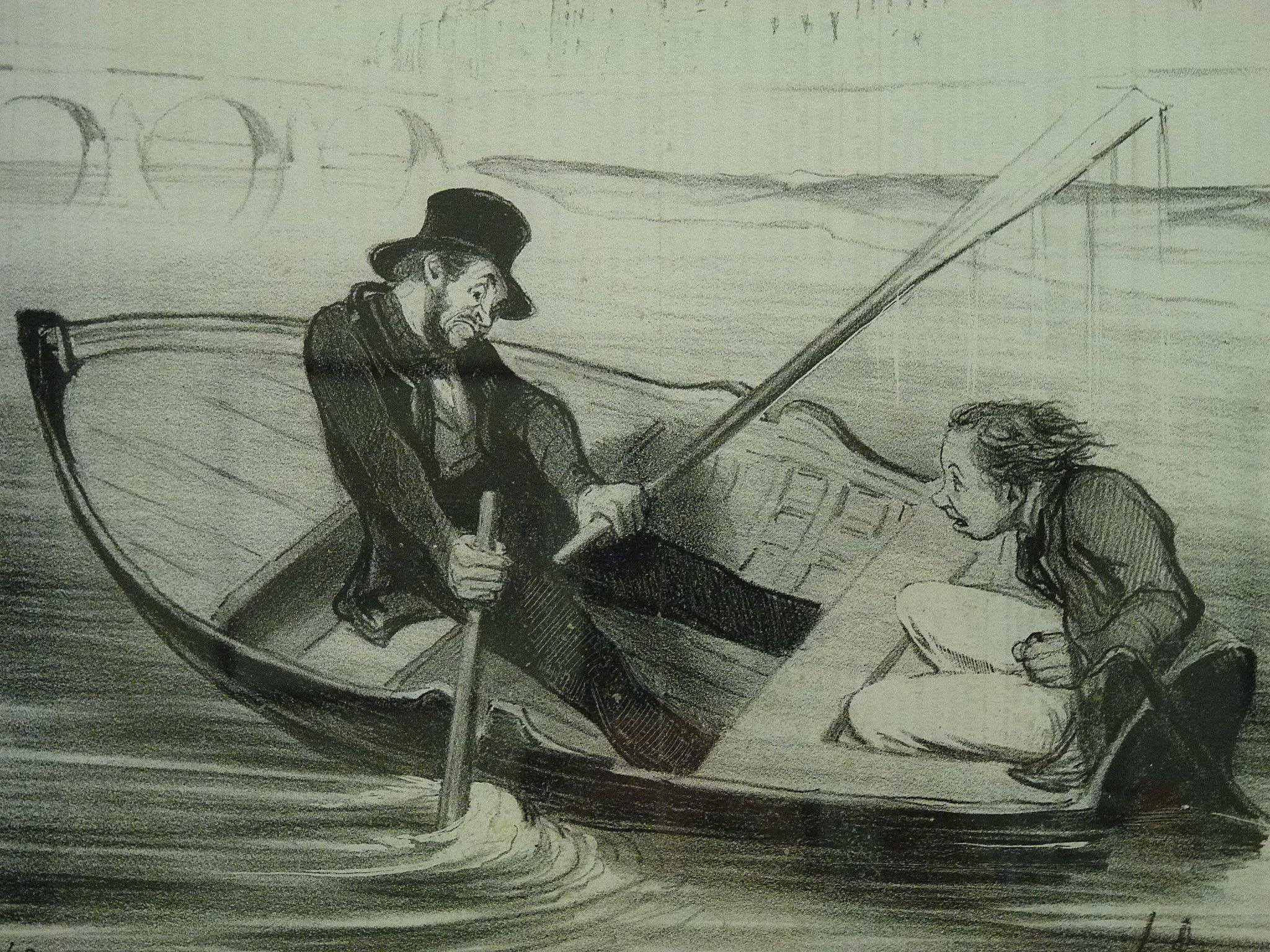DAUMIER Honoré,1843 – Apprenti Marin (Maison de Balzac) – Detail 2 – TAGS : pai…