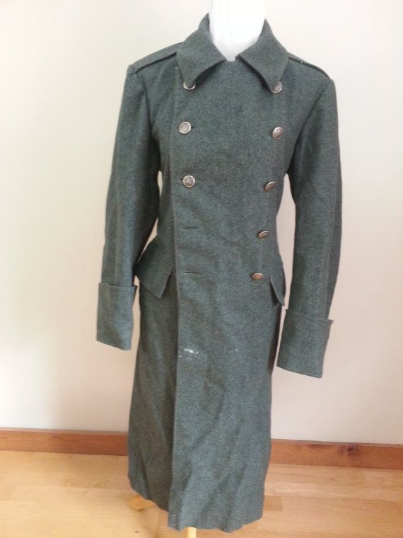 WWII Swiss Military Greatcoat Similar to German by KaizerVintage ...