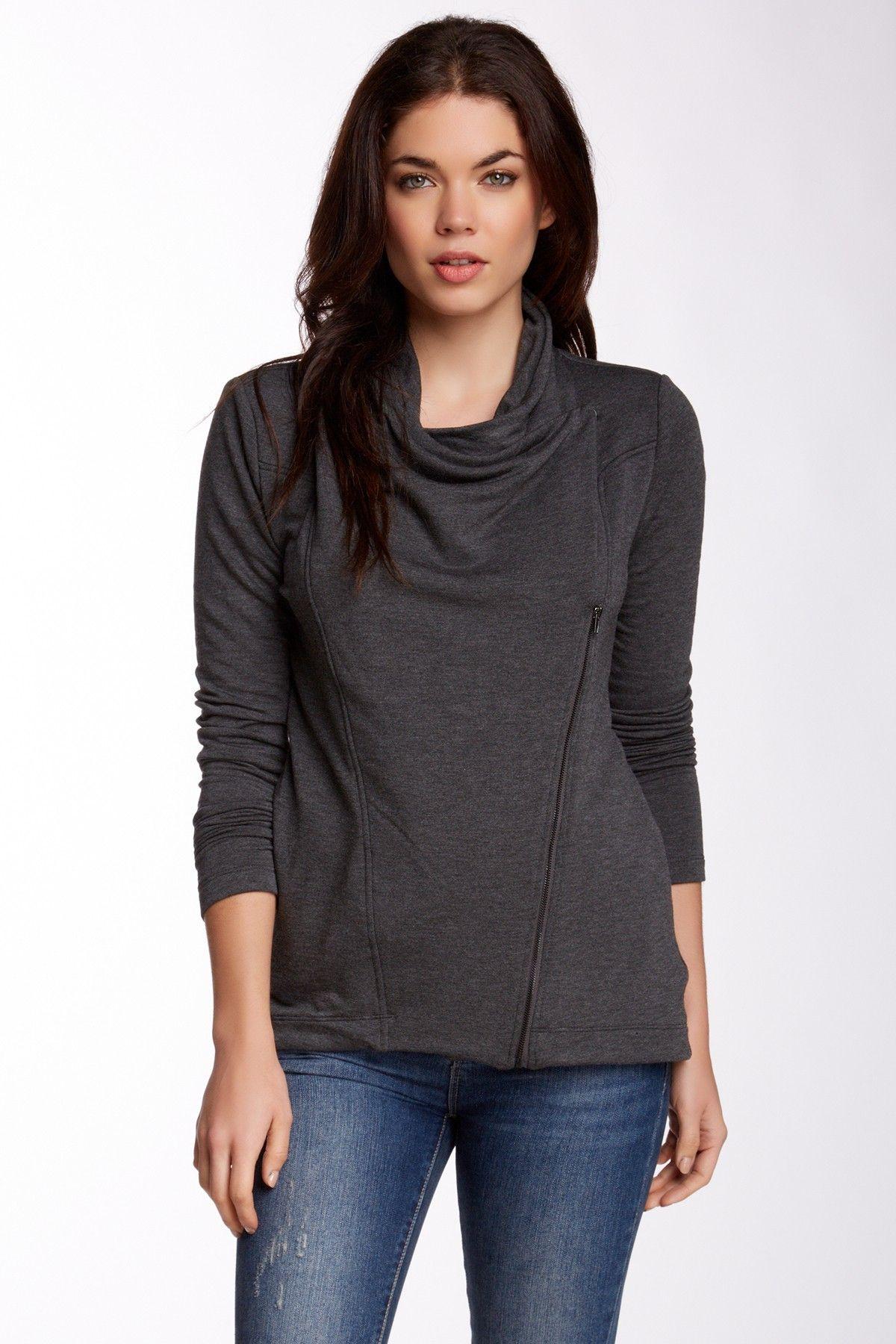 Fleece Zip Jacket by Heather By Bordeaux on @nordstrom_rack
