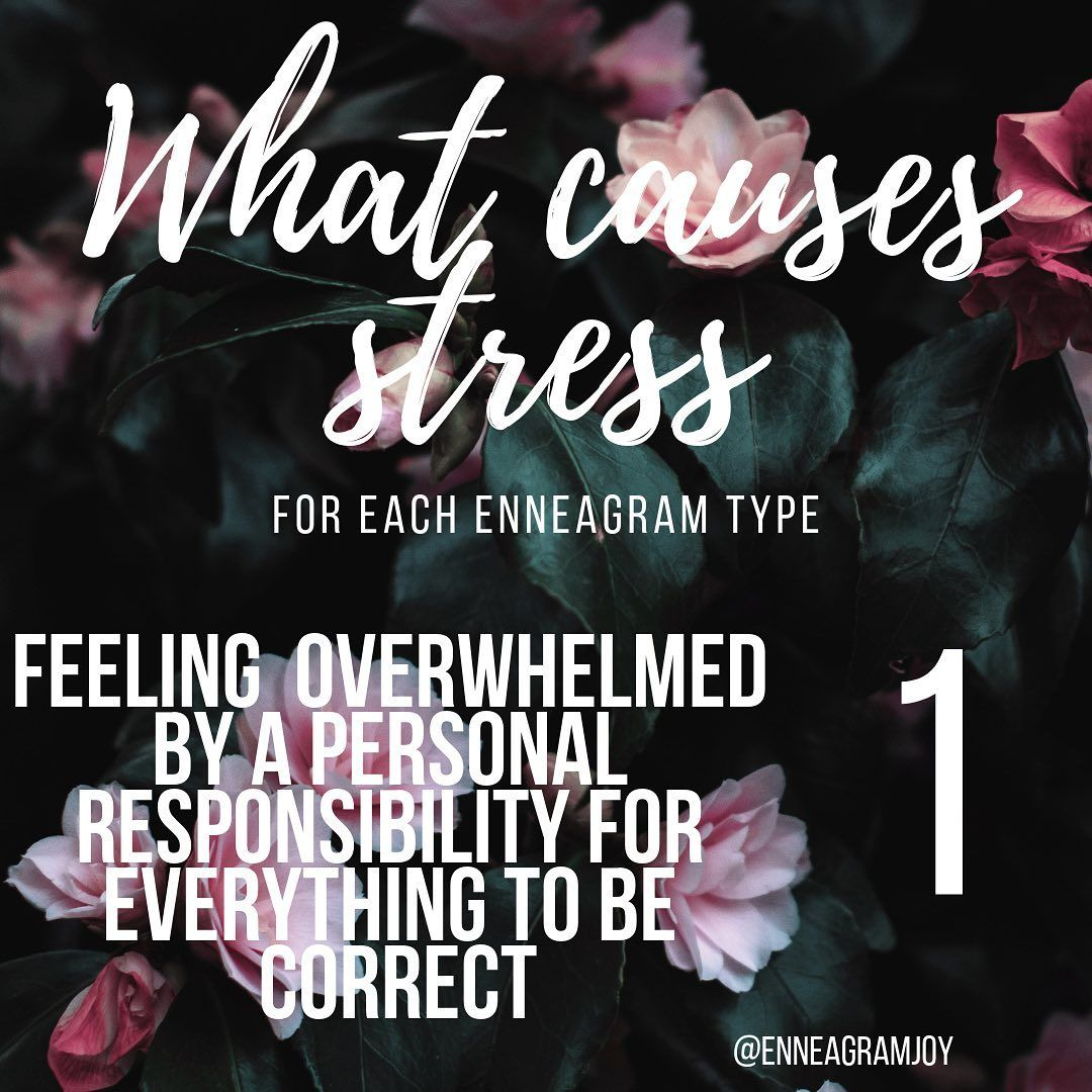"""Enneagram Joy on Instagram: """"What causes you stress based on your enneagram type? • • • • • • • • #enneagram #enneagram1 #enneagram2 #enneagram3 #enneagram4 #enneagram5…"""""""