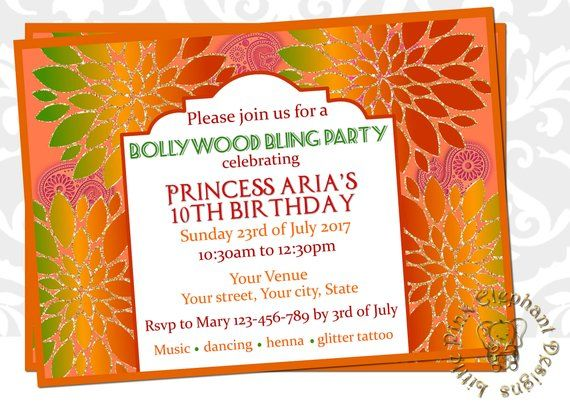 ba47b39979a4 dholki invitation- Mehndi invitation- Mehendi party - Indian birthday  invitations-Hindu wedding invi