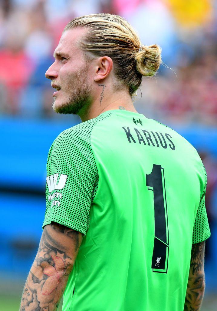 Liverpool Goalkeeper Loris Karius Looks Up Pitch During An Long Hair Styles Men Liverpool Goalkeeper Blonde Guys