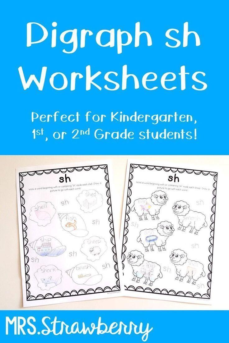 Digraphs: sh Worksheets | Phonics / Alphabet Activities | Pinterest ...