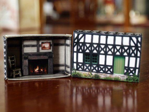 Matchbox House: Miniature Room inside a Matchbox #miniaturerooms
