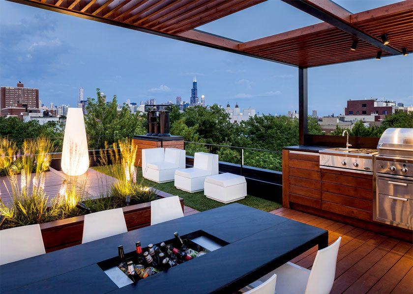 Cityview Platform Roof Deck Kitchen Dining Rooftop Design Rooftop Terrace Design Terrace Design