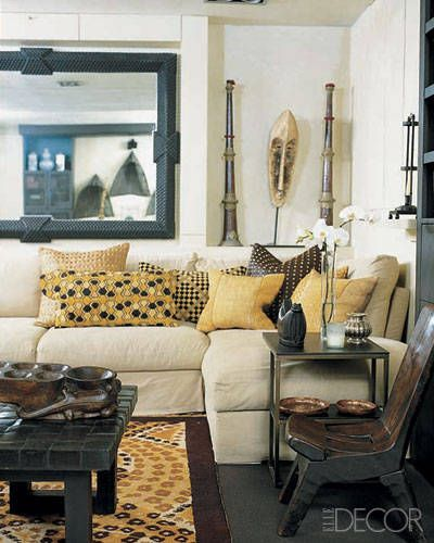 Rose anne de pampelonne beaux arts interiors the family room displays an african mask nepalese horns  carved wood chair from philippines also home restored design ideas decoracion hogar casa rh ar pinterest