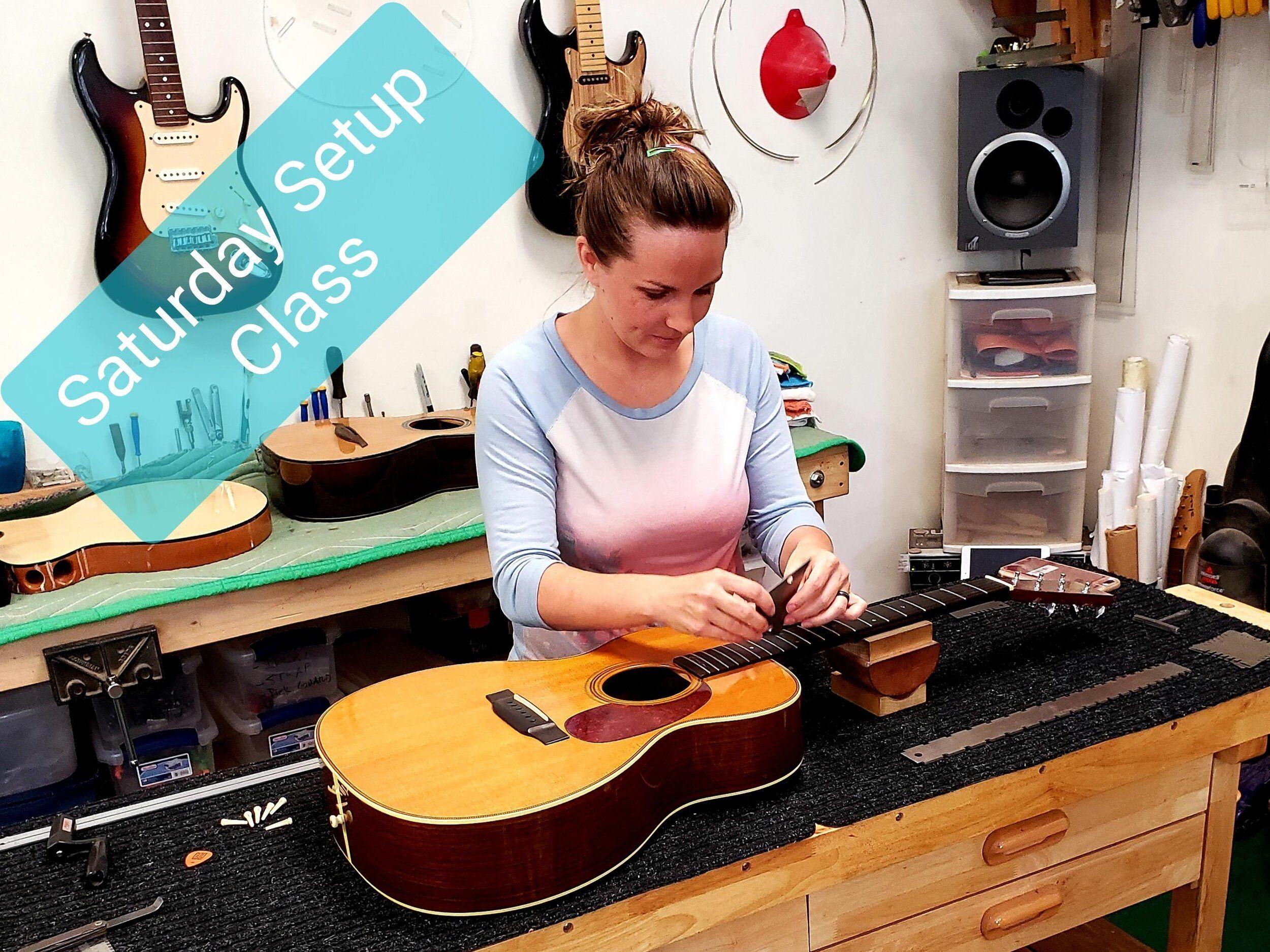 Guitar Setup Class Handmade Guitars Luthier School Guitar Repair Guitar Handmade Guitar Guitar Classes