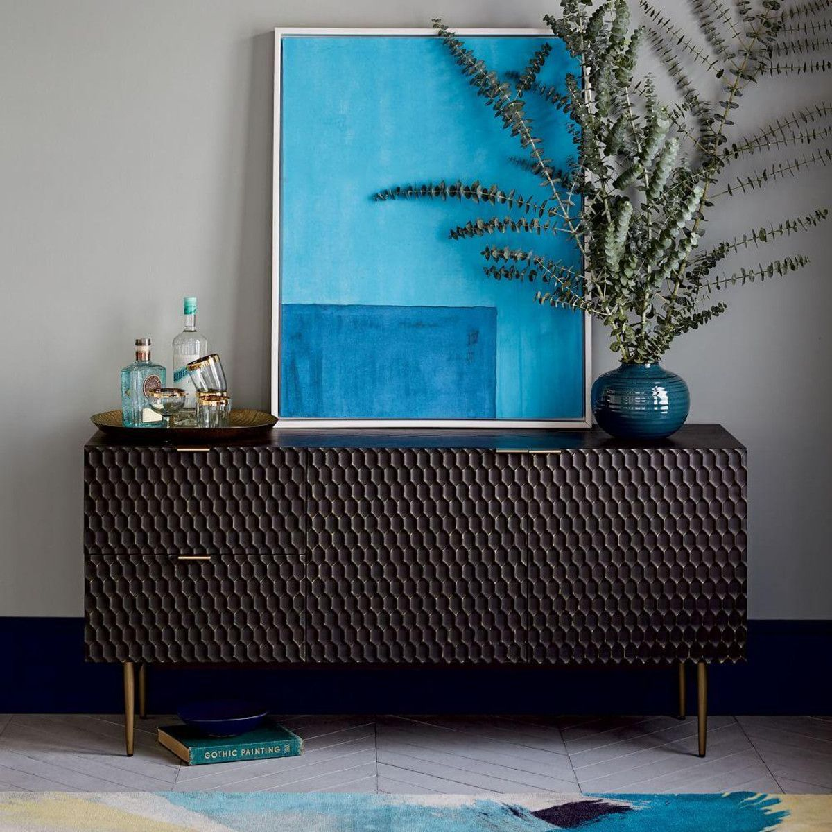 Audrey Dining Sideboard Charcoal Audrey Dining