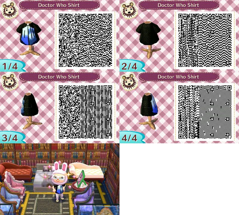 Doctor Who Logo Shirt Animal Crossing New Leaf Qr Code Based On