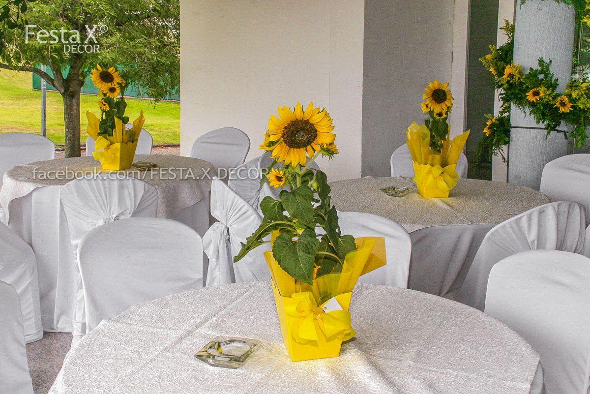 mesa para casamento by Festa X DECOR Casamento com o tema girassol e