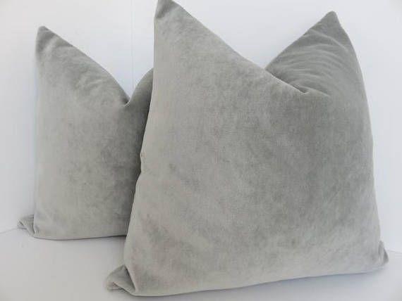 24X24 Pillow Insert Platinum Velvet Pillow Cover Velvet Pillow Cover Decorative Velvet