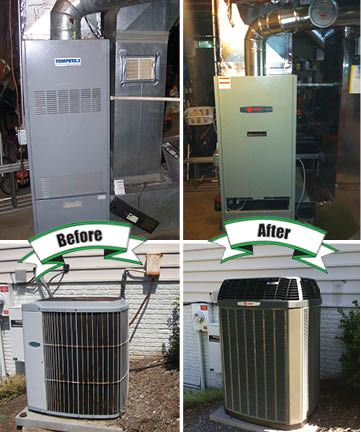 New Trane Oil Furnace And Xl16i Air Conditioning System That We Installed Holtzopleheatingandairconditioning Beforeandafter