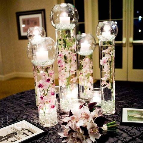 Decoration de mariage theme orchid e fleurs mariage - Decoration de vase pour mariage ...
