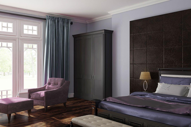 Fitted three door wardrobe - Savoy range