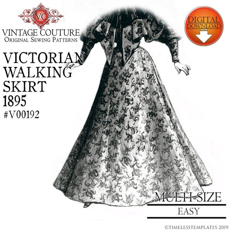 Victorian Sewing Patterns Dress, Blouse, Hat, Coat, Men's