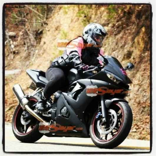 Elegant Yamaha R6   Riding The Tail Of The Dragon #yamaha #r6 #girl