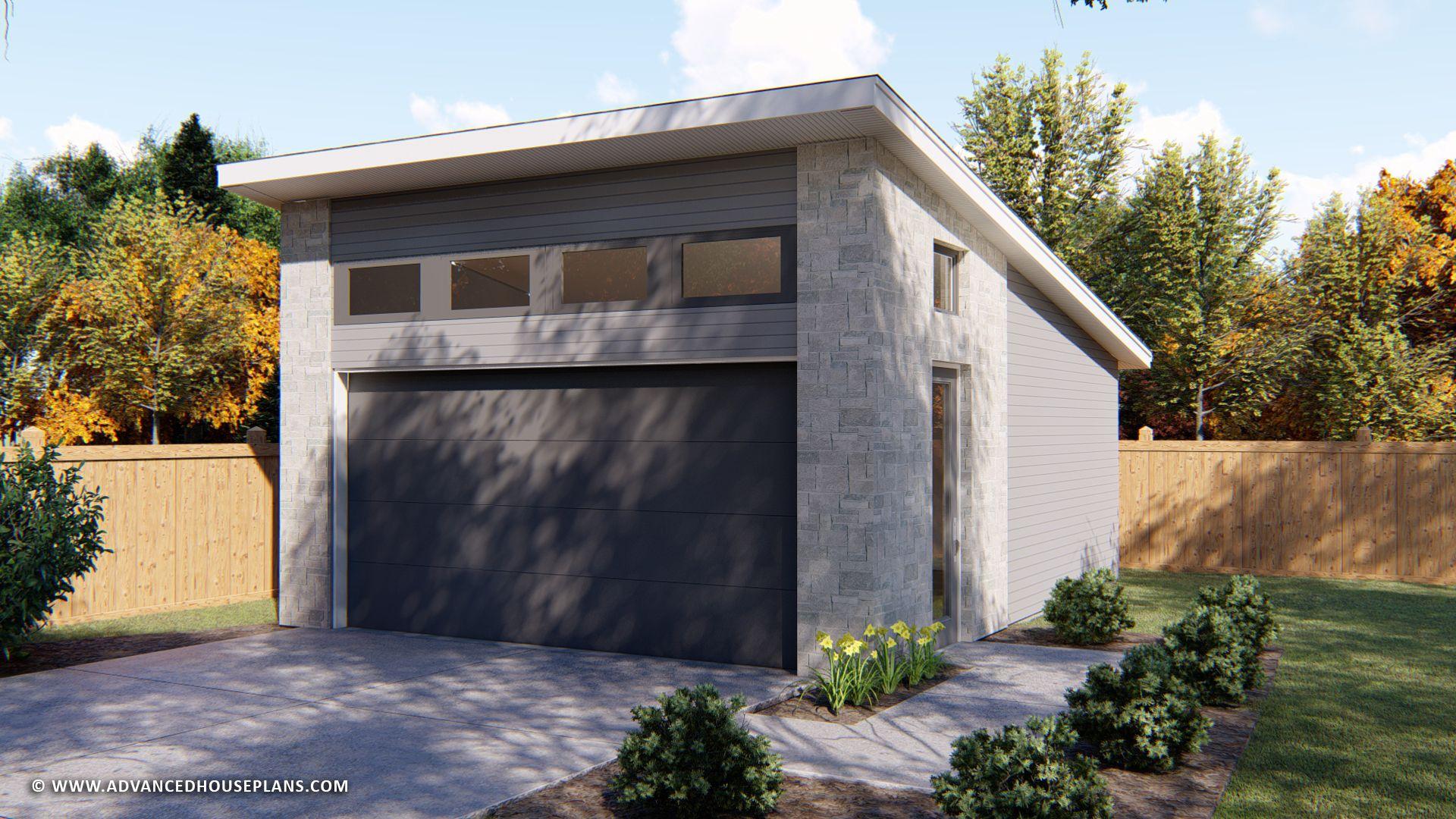 1 Car Garage Plan Pelini Garage Door Design Garage Design Garage Floor Plans