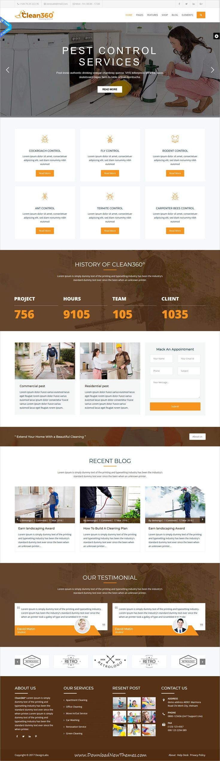 clean360 is clean and modern design 2in1 responsive bootstrap html template for cleaning
