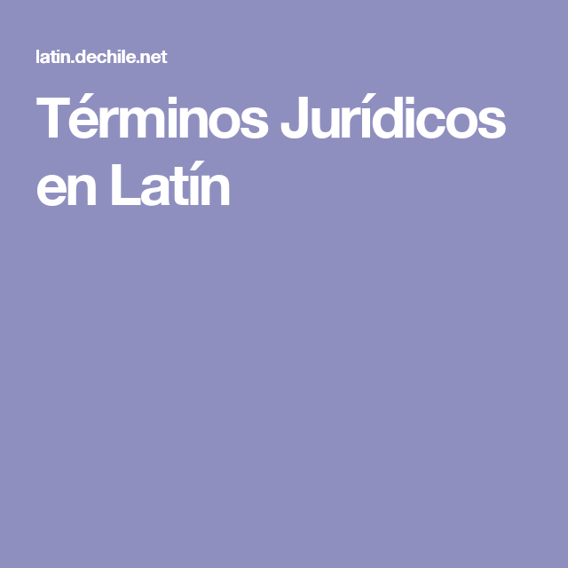 TERMINOS JURIDICOS EN LATIN PDF DOWNLOAD