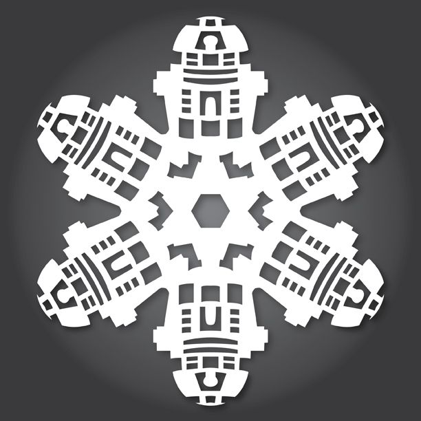 r2d2 snowflake template  6 of the most amazing snowflake patterns | Paper Snowflakes ...