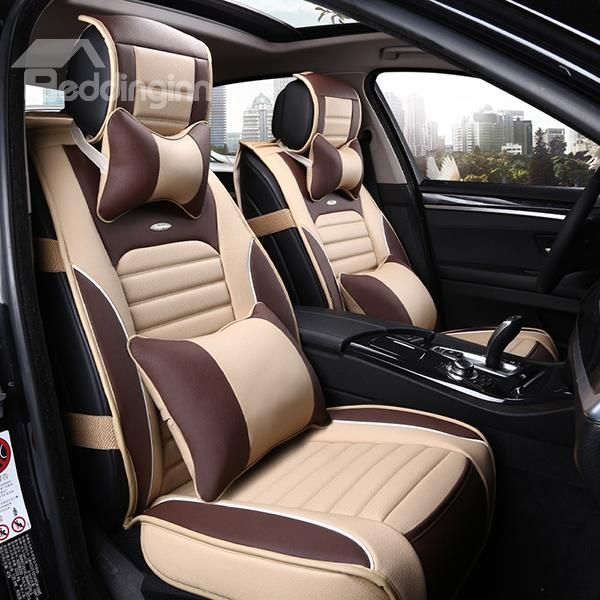 Sporty Premium Leather Material Comfortable Dual Color Car Seat Cover Car Seats Leather Car Seat Covers Custom Car Seat Covers