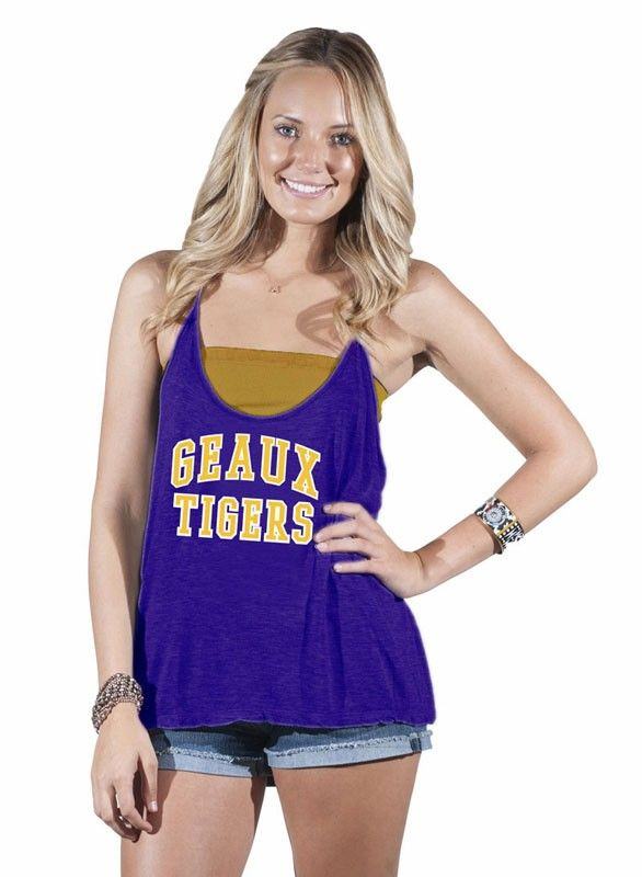 a5f711ab43024 LSU Geaux Tigers Strappy Racerback Tank on sale for  24.99