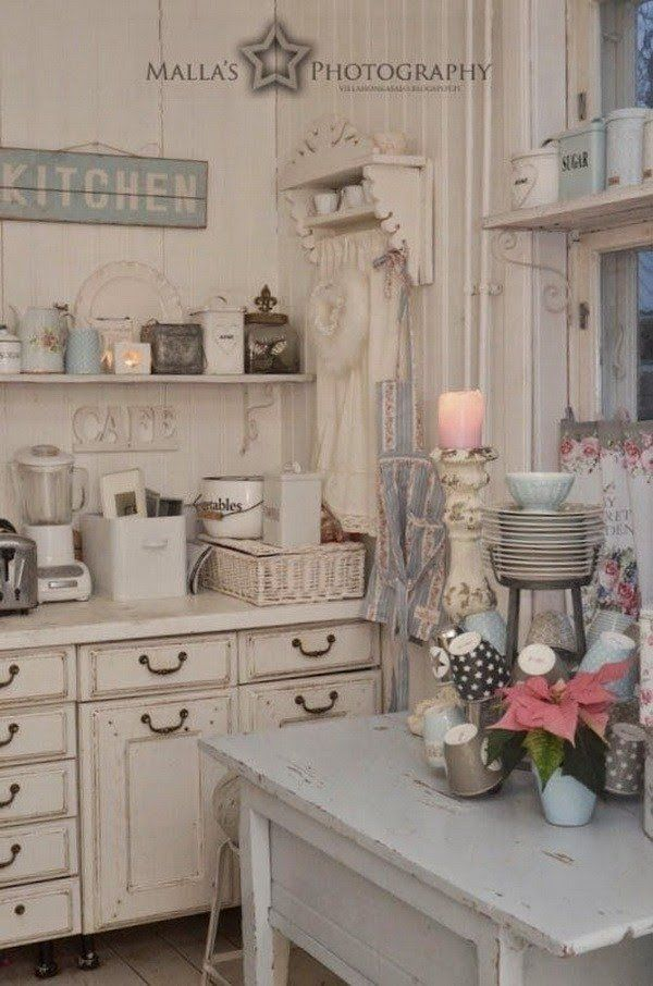 chic kitchen accessories 35 awesome shabby chic kitchen designs accessories and 2161