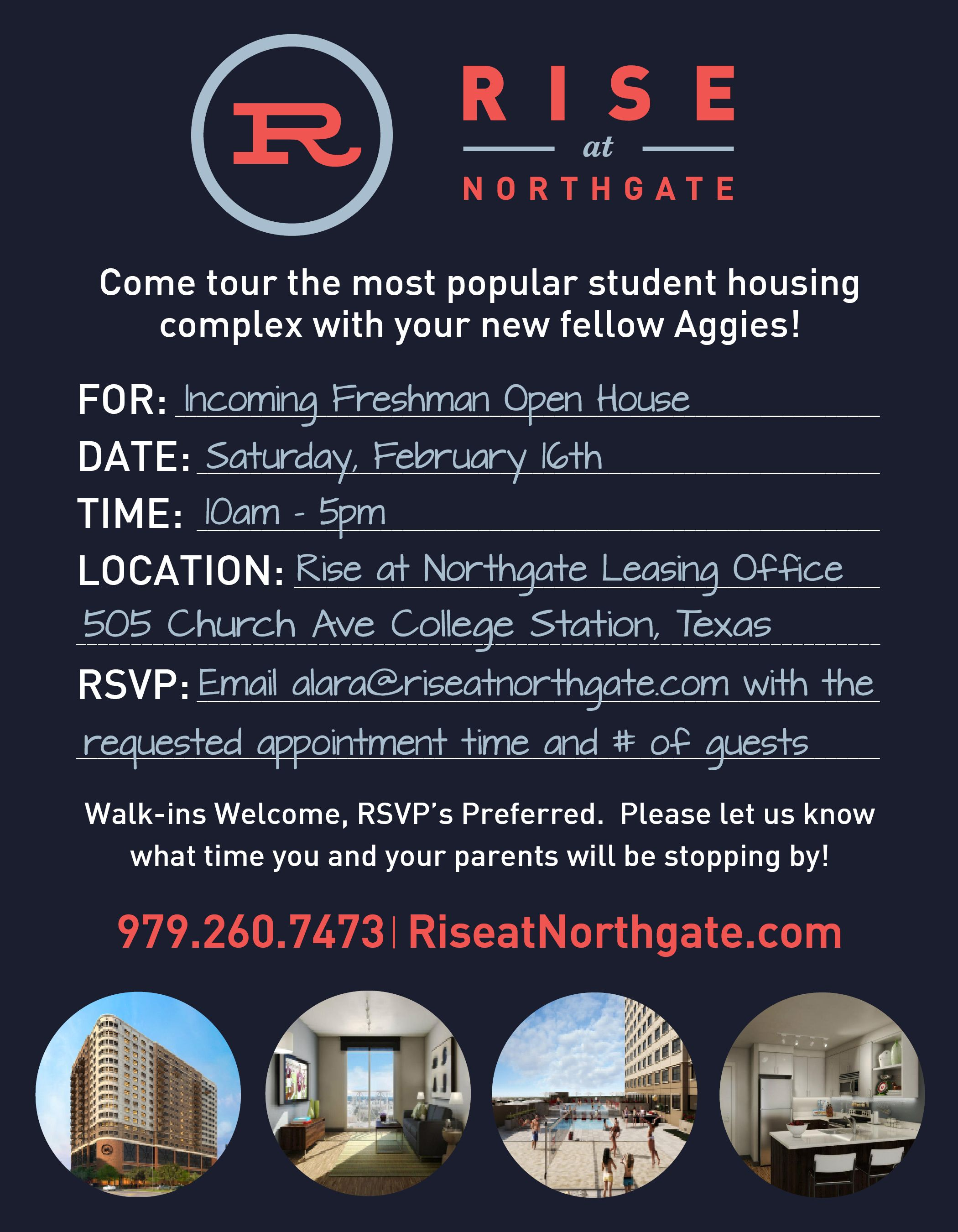 Stop by 505 Church Ave for Aggieland Saturday! #RiseatNorthgate #Aggieland