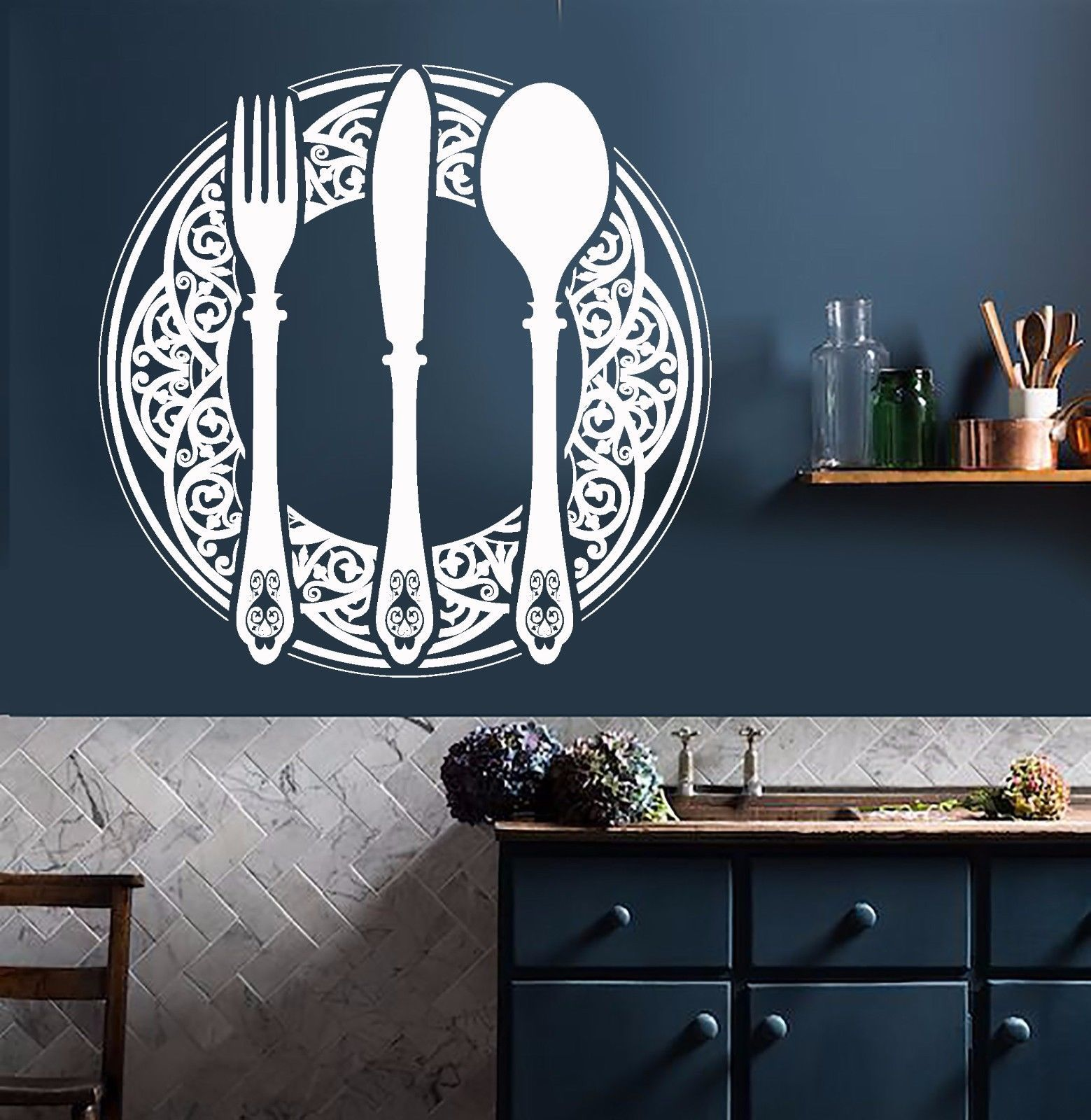 details about vinyl wall decal dining room decoration on wall stickers id=32379