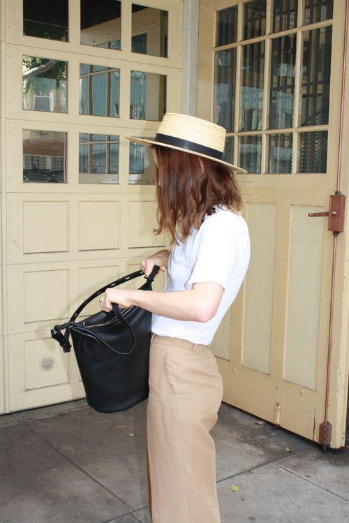 Straw hat + bag
