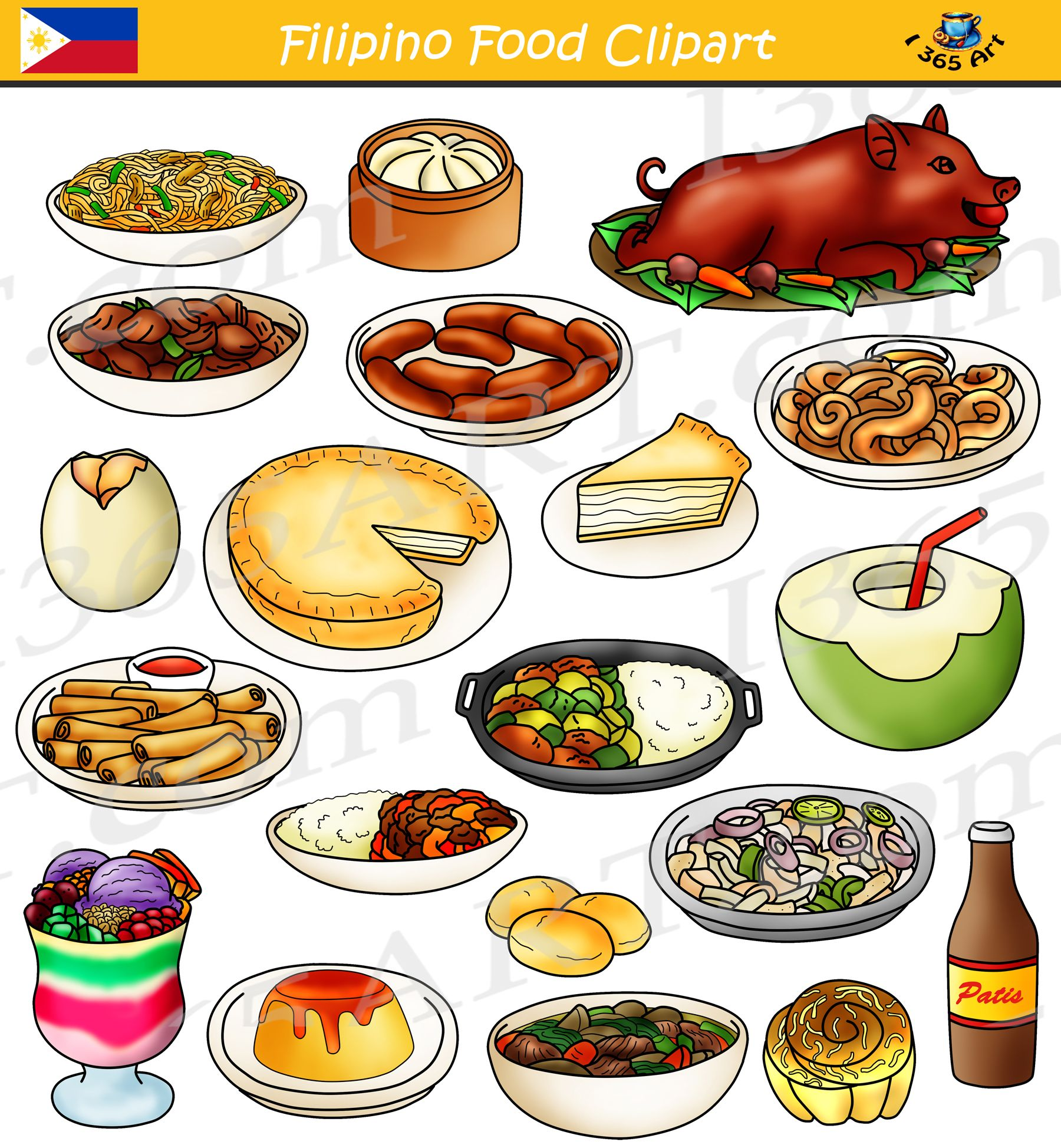 Filipino Food Clipart Bundle Food From The Philippines Clipart 4 School Food Clipart Filipino Recipes Food