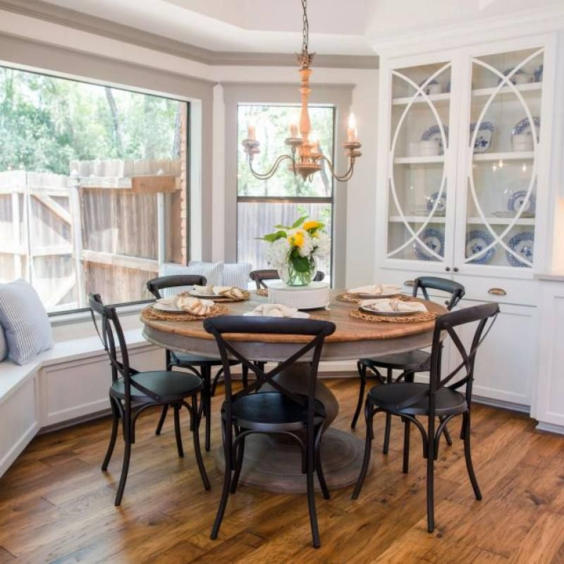 Room redo: Fixer Upper casual dining room images