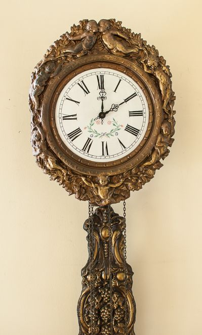 "19th C. French Morbier Clock ""Comtoise"" ✖️Art. Ideas. Home. Fashion ✖️FOSTERGINGER AT PINTEREST ✖️"