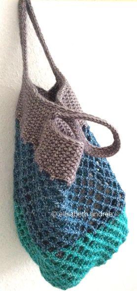Small Crochet Mesh Shopper By Elisabeth Andree - Free Crochet Pattern - (elisabethandree.wordpress)