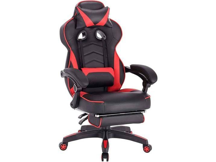 Gaming Stuhl Mit Kopfstutze Und Lendenkissen Mit Fussstutze Kunstlede In 2020 Gaming Chair Chair Foot Rest