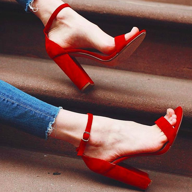 Steve Madden Carrson Block Heels | Amazing Red Shoes | Pinterest ...