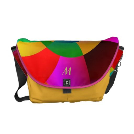 Abstract Cool Cute Fractal Neon Psychedelic Courier Bag