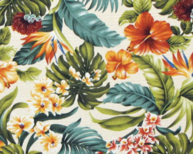 Tropical Hawaiian 100/% Cotton Barkcloth Upholstery Fabric RUNNER ~Bird//Paradise~