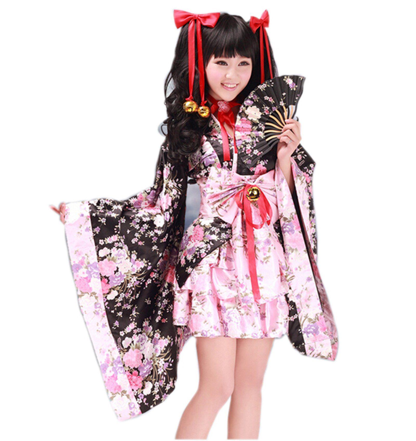 Japanischer Geisha Kimono japanischen Anime Manga Kostüm