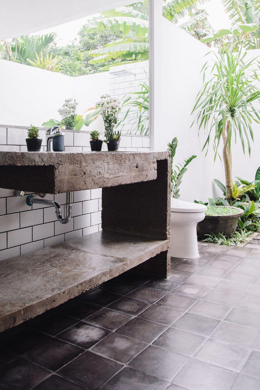 Style and create u the dreamiest outdoor bathroom u pool area love