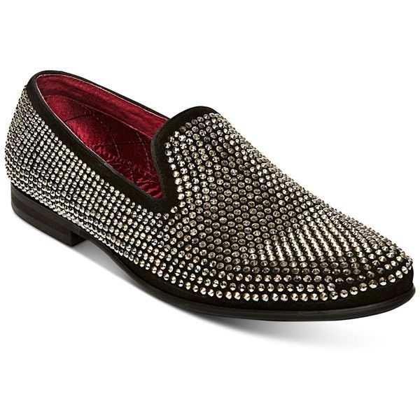 ccbf37c8370 Steve Madden Men s Caviarr Rhinestone Loafers ( 125) ❤ liked on Polyvore  featuring men s fashion