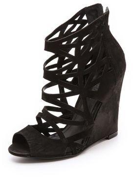 Schutz Carlee Cutout Wedge Sandals on shopstyle.com