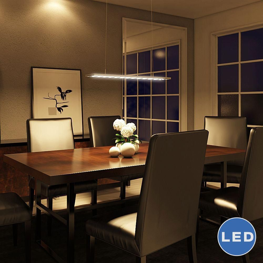 Linear Dining Room Lighting VONN Atria Collection 33 In Silver Integrated LED Adjustable Modern