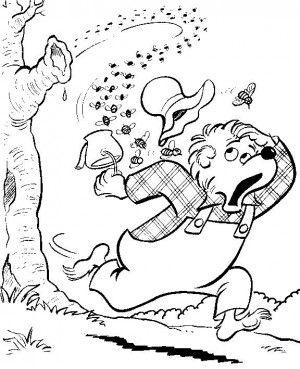 berenstain bears coloring page1 - Berenstain Bears Coloring Book