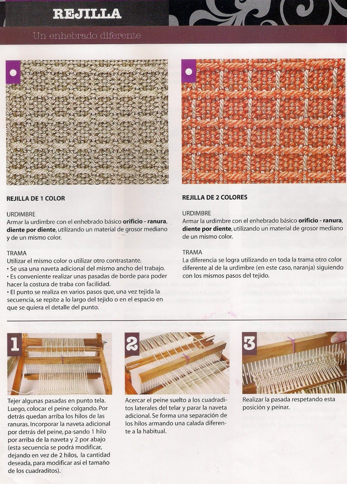 tejidos a telar, | Patrones | Pinterest | Puntos, Telas y Tejidos en ...